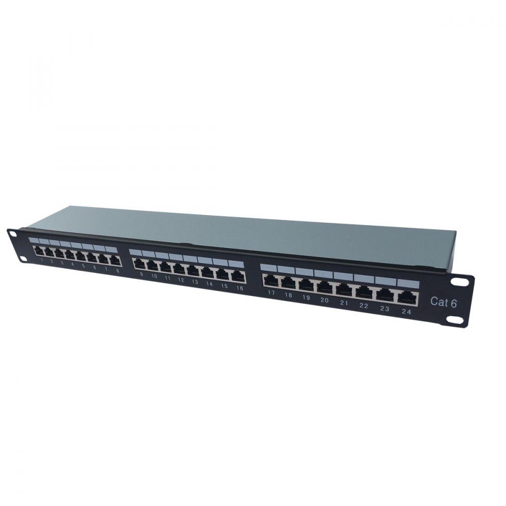 CTnet Patch panel 24 port UTP cat.6, 1U