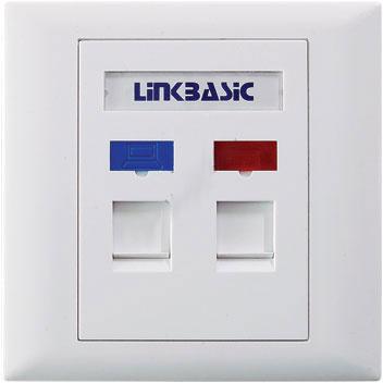 Zásuvka Linkbasic 2xRJ pod omítku
