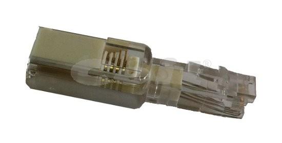 Otočný konektor typ USA bílý