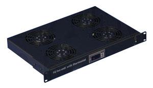 """CTnet 19"""" ventilační jednotka 1U, 4 ventilátory"""