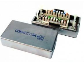 Spojovací box cat.5e FTP zářez / zářez