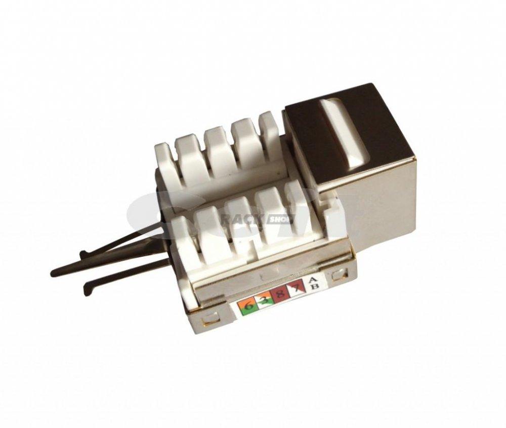 CTnet keystone FTP RJ45 cat.6A, zářezový typ 110