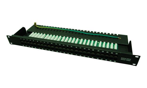 CTnet patch panel 50 port cat.3, 1U, ISDN