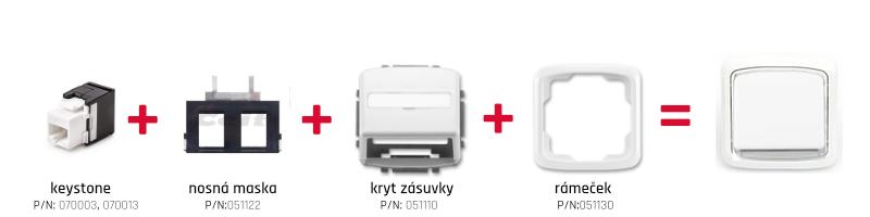 Montáž zásuvky ABB Tango s keystone CTnet
