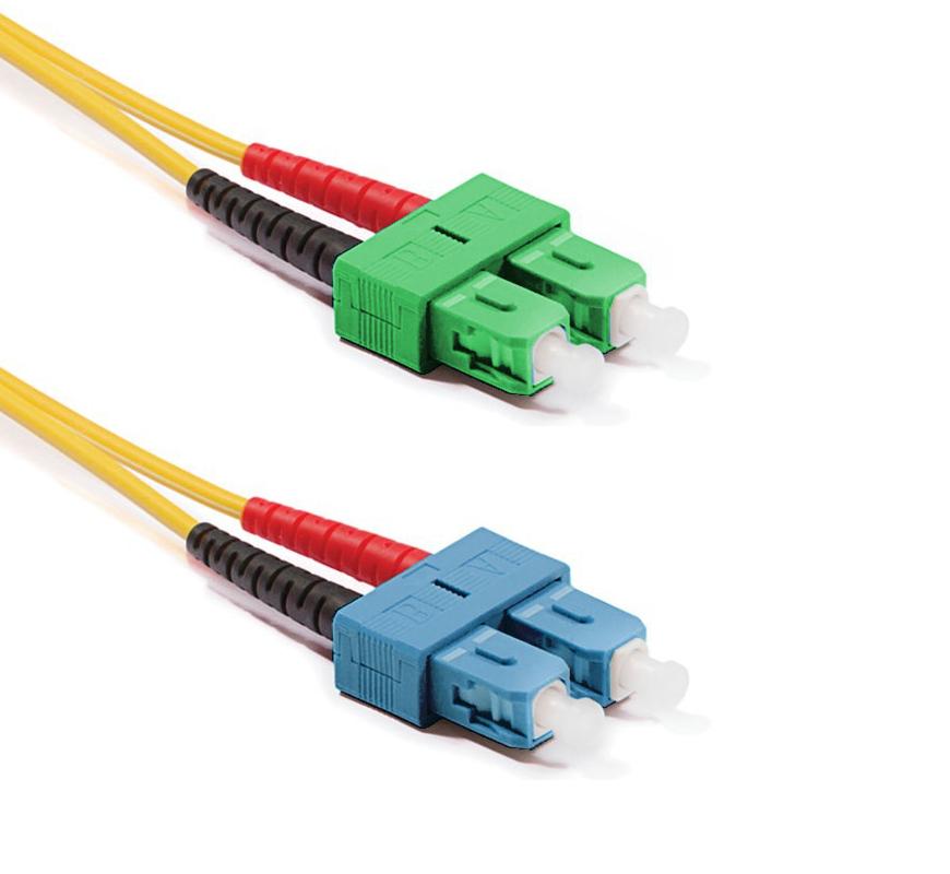 Optický patchkabel SC/APC-SC/PC 9/125 OS2, 1m