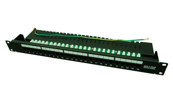 CTnet patch panel 25 port cat.3, 1U, ISDN