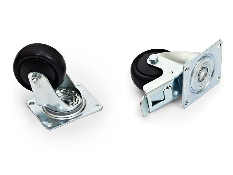 RAX-MS-X81-X1 - Sada koleček s max. doporučenou nosností všech 4 koleček 800 kg.