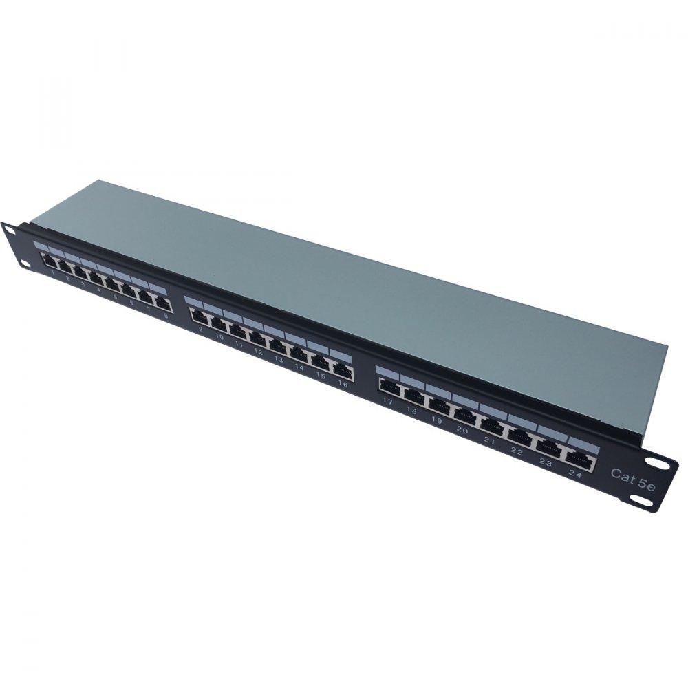 CTnet Patch panel 24 port FTP cat.5e, 1U