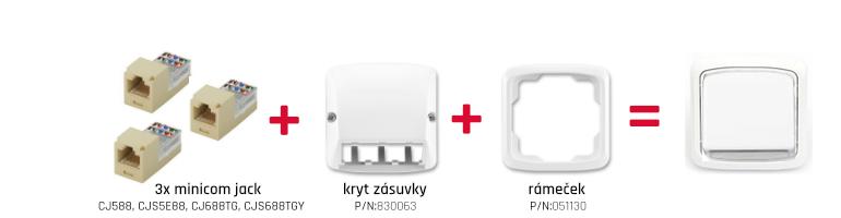 Montáž zásuvky ABB Tango s moduly Mini-com