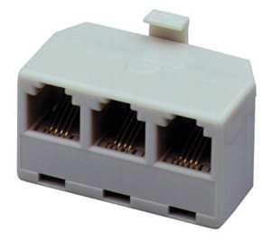 Roztrojka RJ11 6p6c (1M-3F)