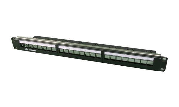 Patch panel 24 port modulární, 1U