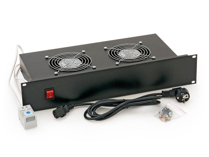"""RAB-CH-X01-A1 - 19"""" horizontální ventilační jednotka Triton, 2 ventilátory"""
