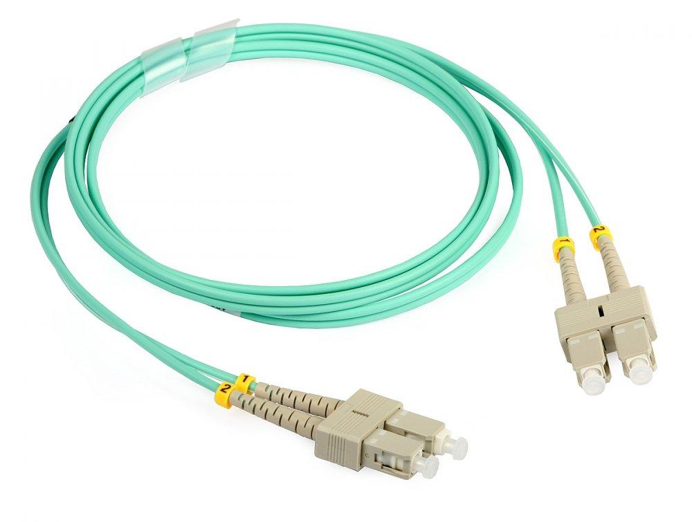 Optický patchkabel SC-SC 50/125 OM3, 1m