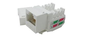 CTnet keystone UTP RJ45 Cat.5e, zářez typ 110, bílý