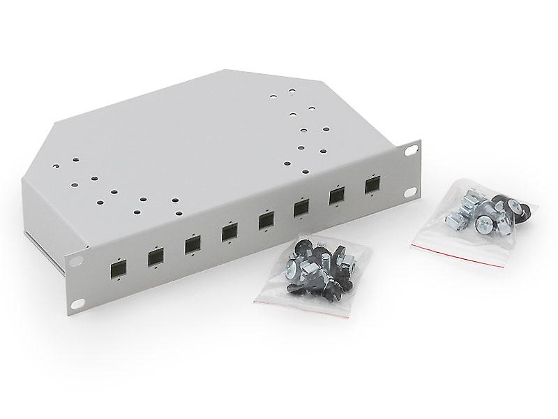 """RAB-FO-X01-C2 - Triton 10"""" optická vana 1U, 8 SC konektorů"""