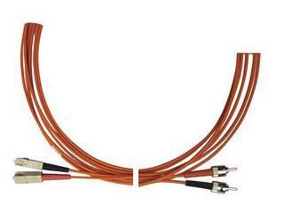 Optický patchkabel ST-SC 62,5/125 OM1, 1m
