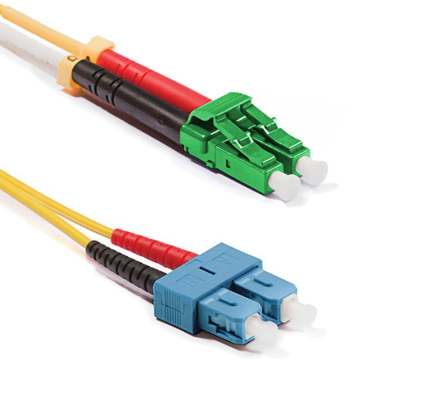 Optický patchkabel LC/APC-SC/PC 9/125 OS2, 1m