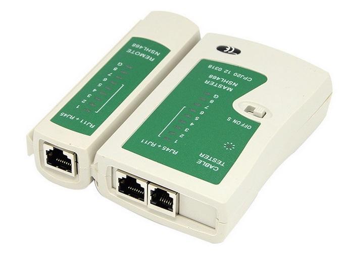 Tester dvoudílný pro UTP a STP kabely