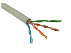 CTnet kabel UTP lanko cat.5e PVC šedý