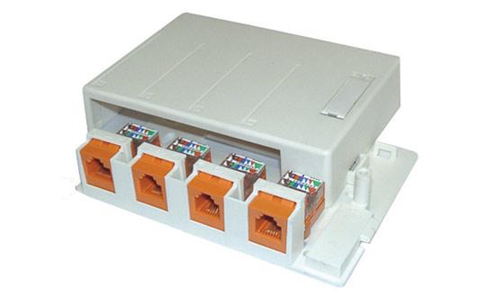 Rozvodný box plastový modulární multimediální pro 6 keystone
