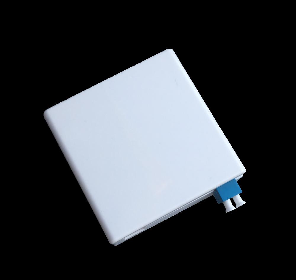 Optická zásuvka na omítku pro 2xSC/ 2xLC adaptéry