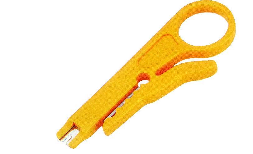 Stripovací nástroj pro datové kabely se zářezovým nástrojem pro 110 svorkovnice