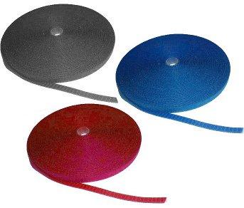 Vázací pásek suchý zip, 19mm, délka 20m, černý