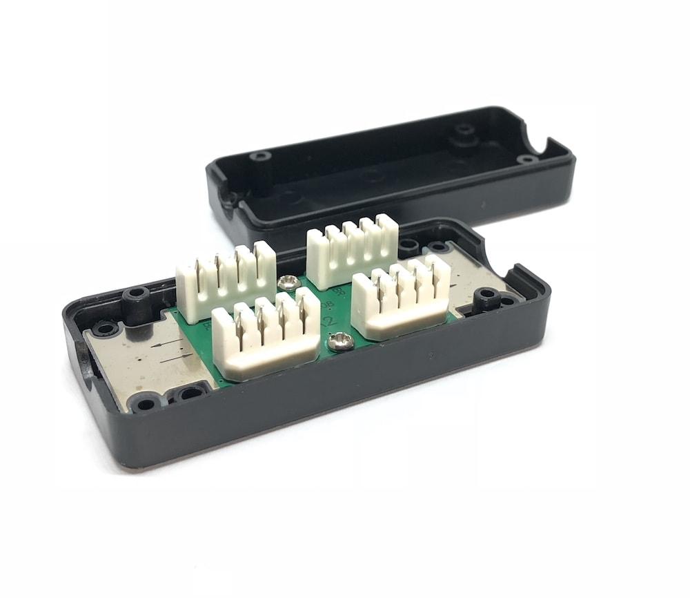 Spojovací box cat. 6 UTP zářez / zářez