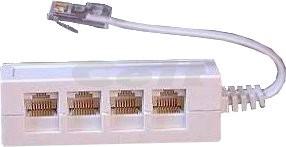 Adaptér pro rozpárování kabelu na 4 telefony