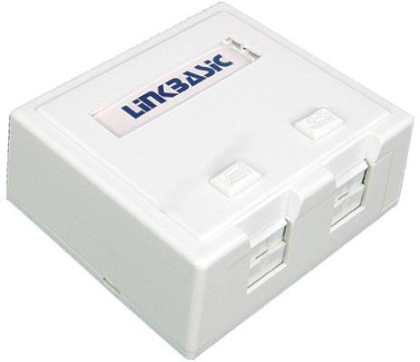 Zásuvka Linkbasic 2xRJ na omítku